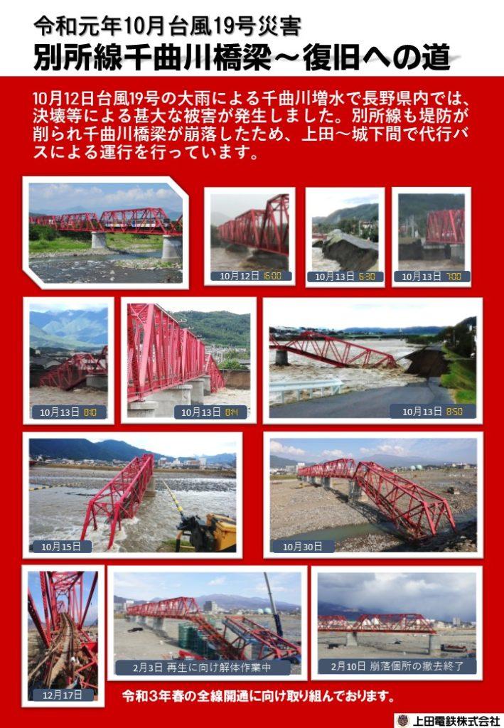 令和元年10月台風19号災害「別所線千曲川橋梁〜復旧への道」